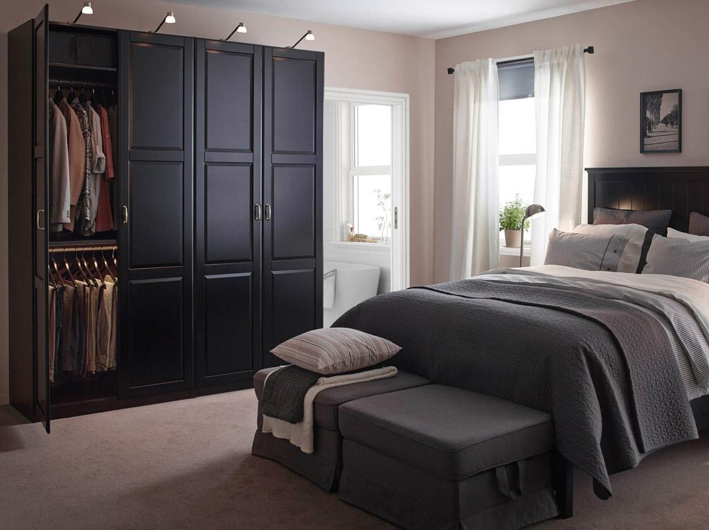 Traditional Grey Wood Furniture Bedroom Design