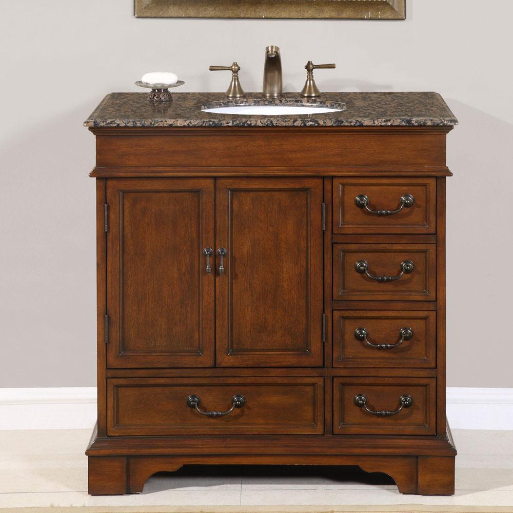 Traditional Rustic Bathroom Cabinet Design