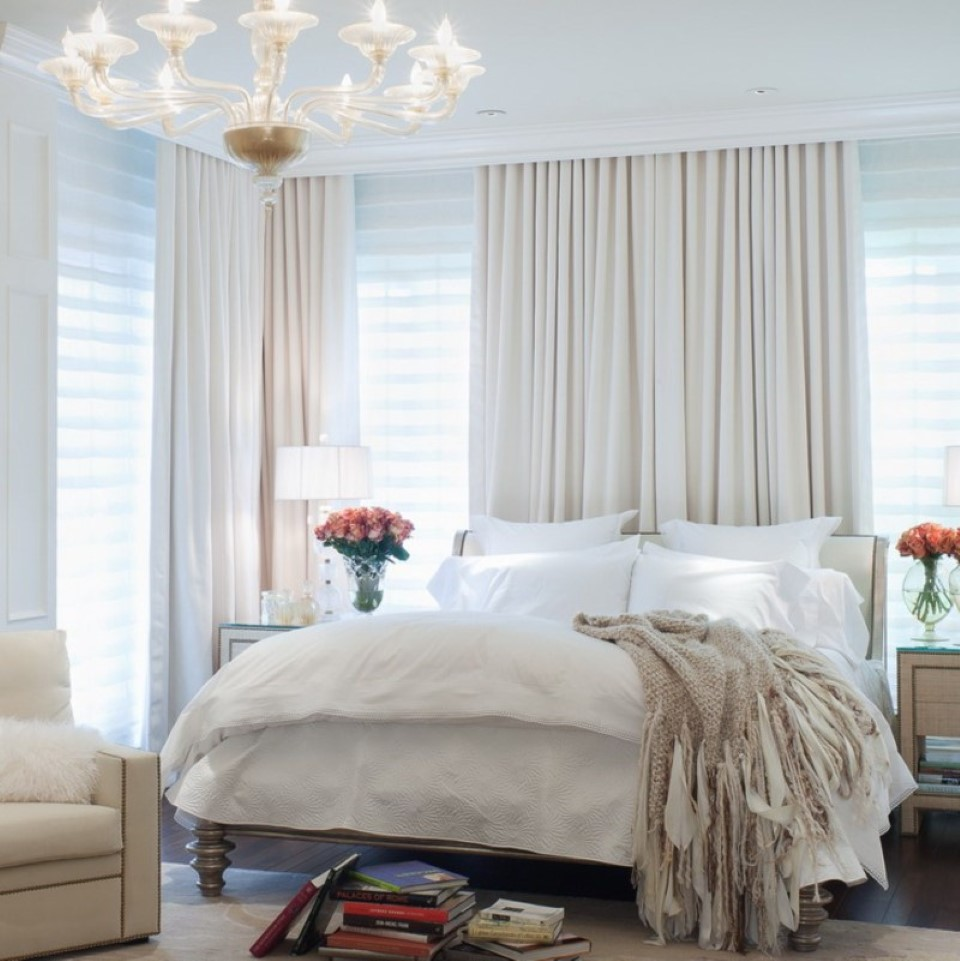White Bedroom Curtains.