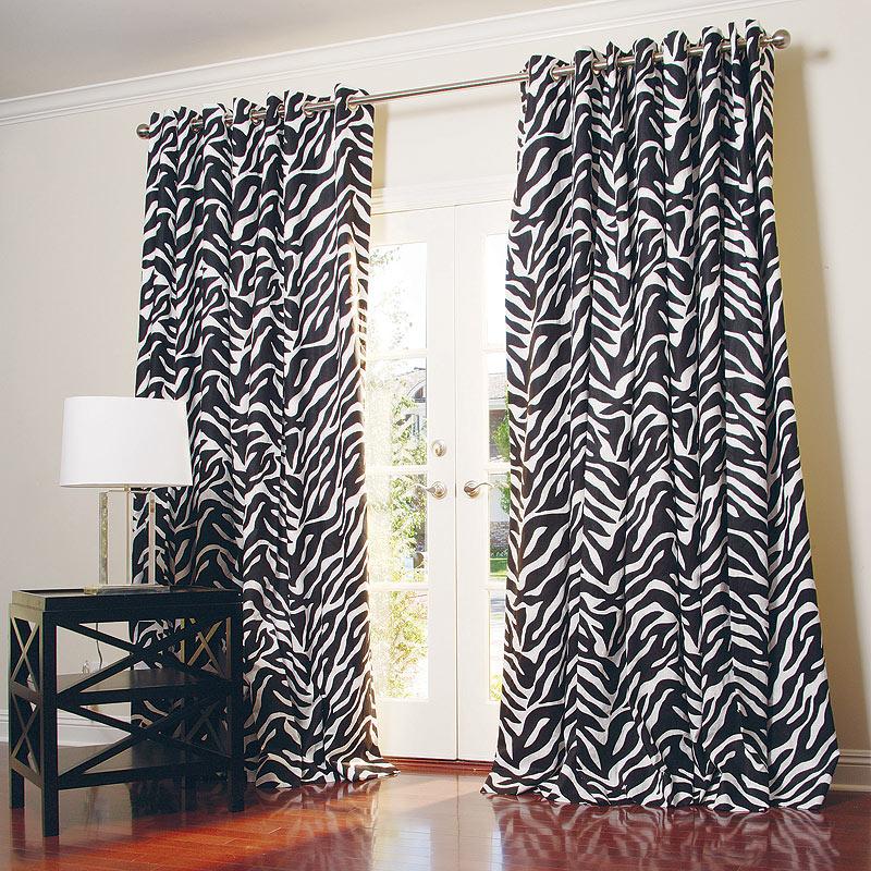 Zebra Curtains For Bedroom.