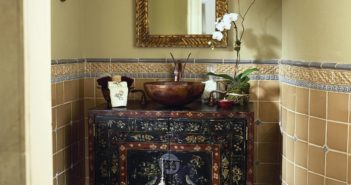 antique small-rustic bathroom cabinet with sink design