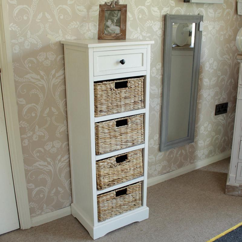 cream wicker drawer for storage