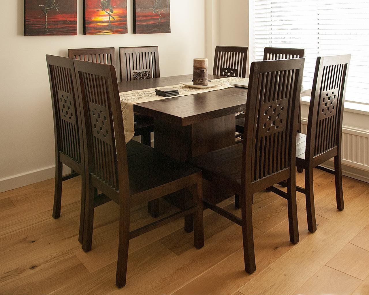 dark teak dining tables
