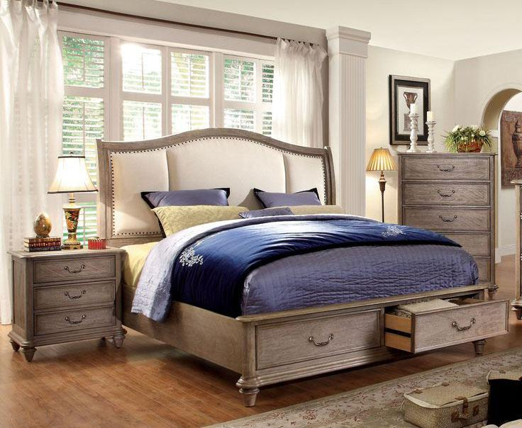 grey bedroom brown furniture