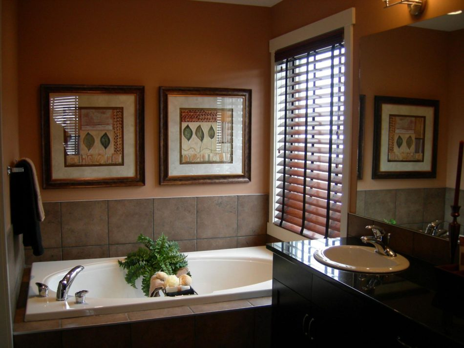 half blinds for bathroom decors