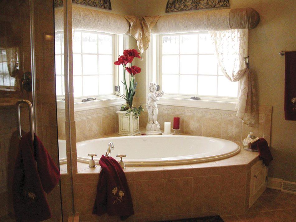 natural rustic bathroom decoration