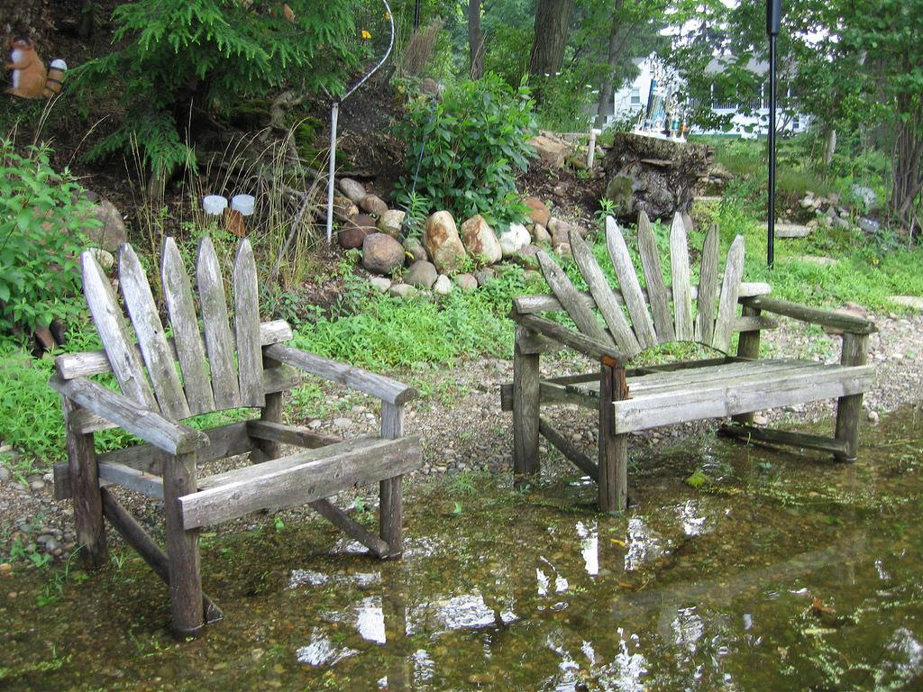 old rustic outdoor furniture