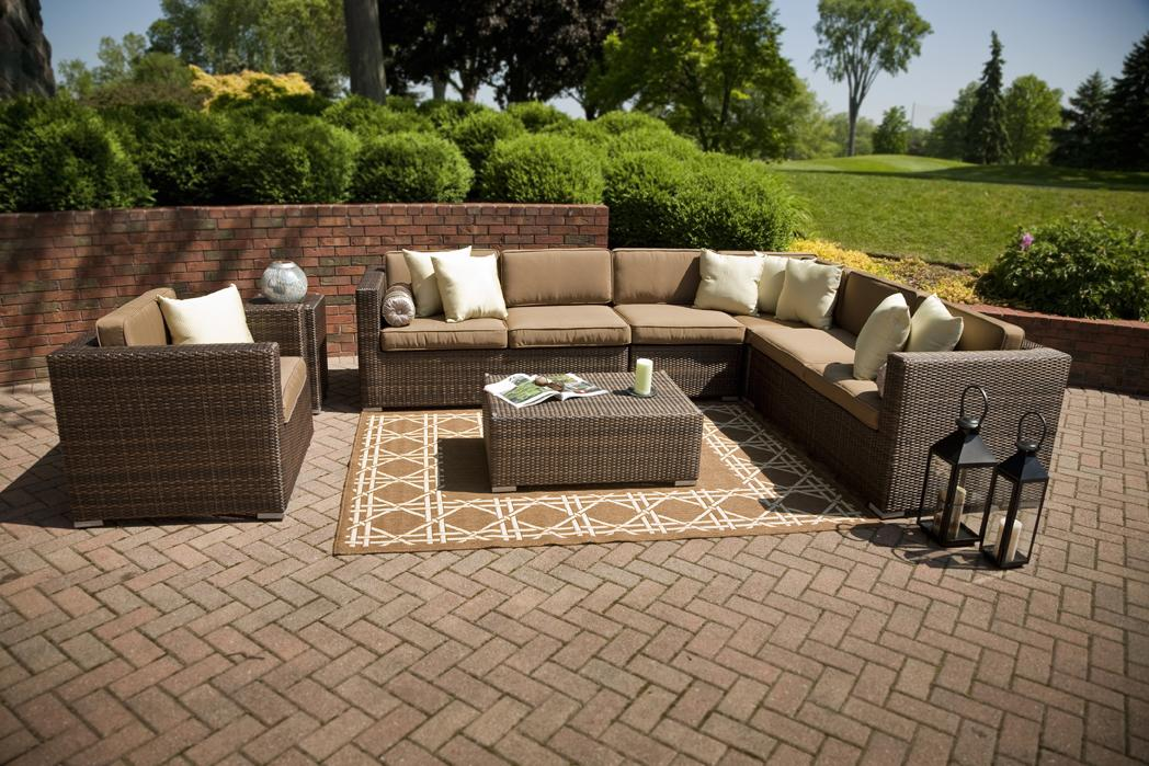 rustic modern outdoor wicker furniture