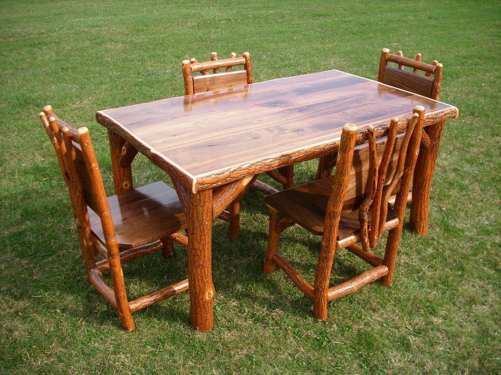rustic outdoor table ideas