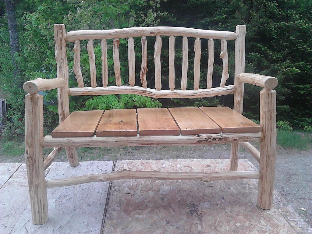rustic timber outdoor furniture