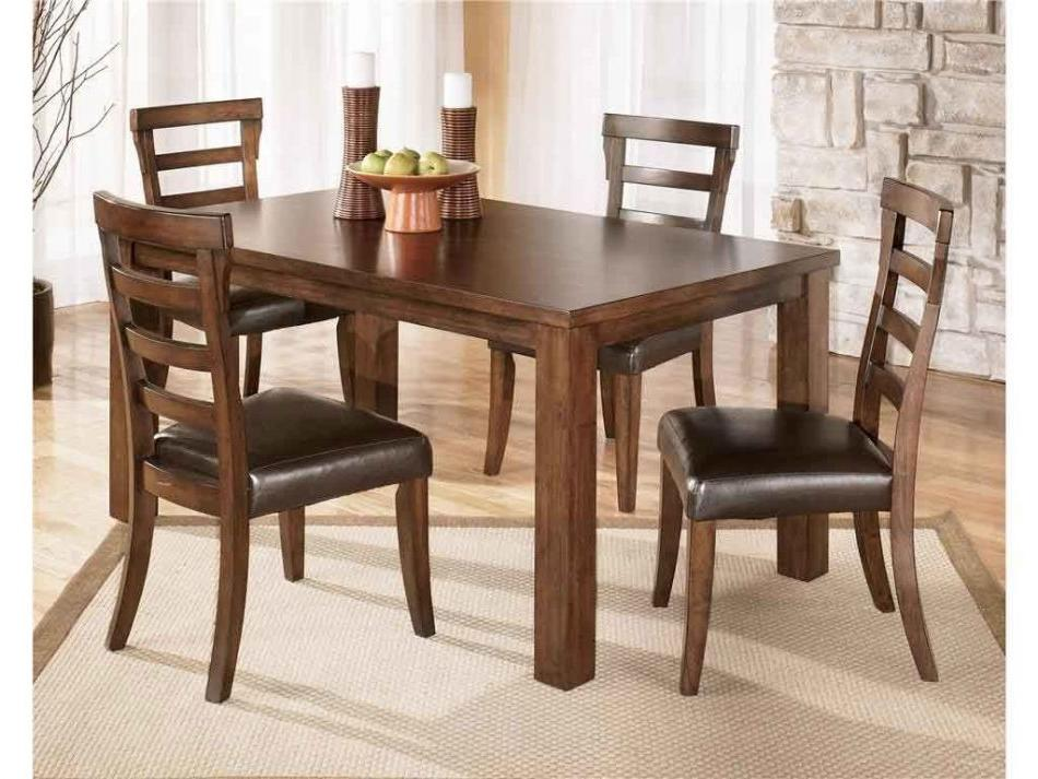 teak modern dining table