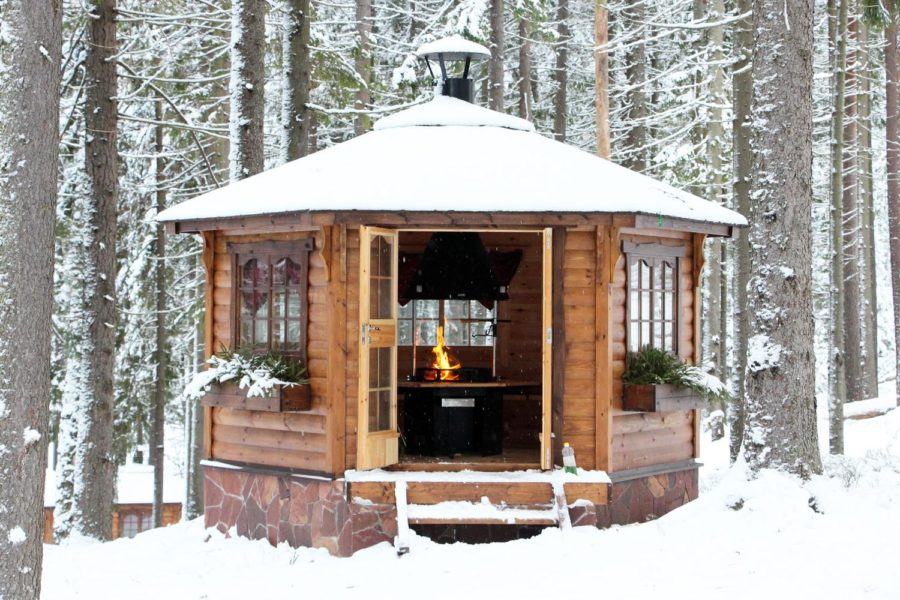 well-insulated arbor for winter