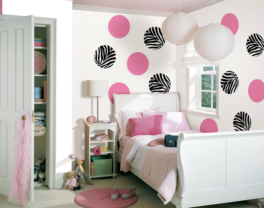 Brightly decorated walls
