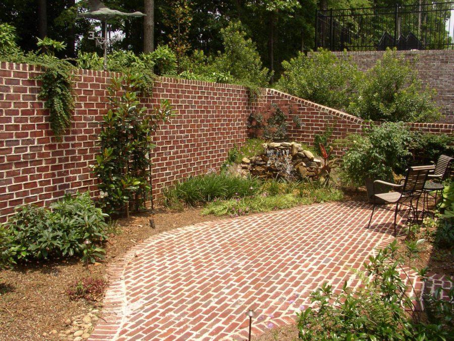 Clinker brick fence