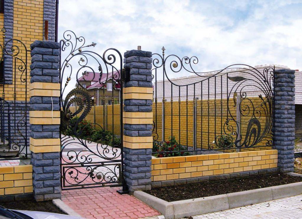 Luxury brick fence