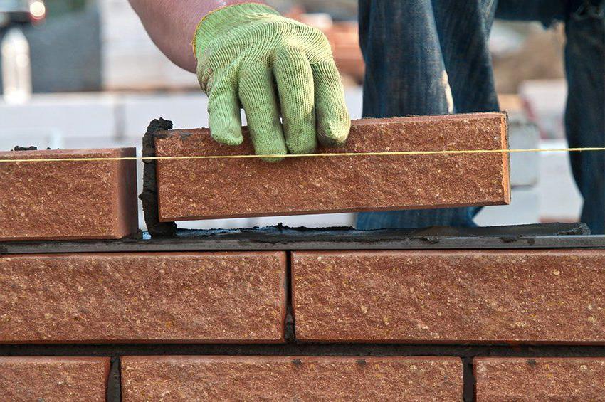 Masonry brick fence