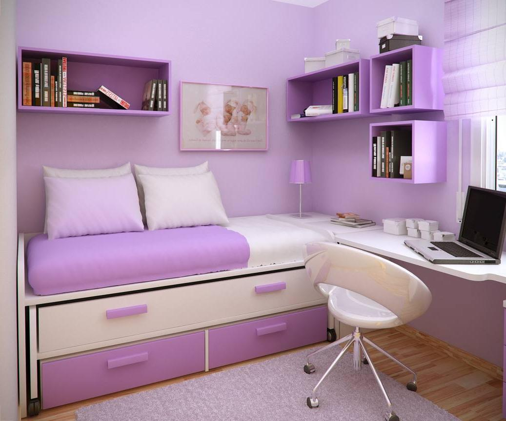 Multifunctional furniture in a tiny bedroom