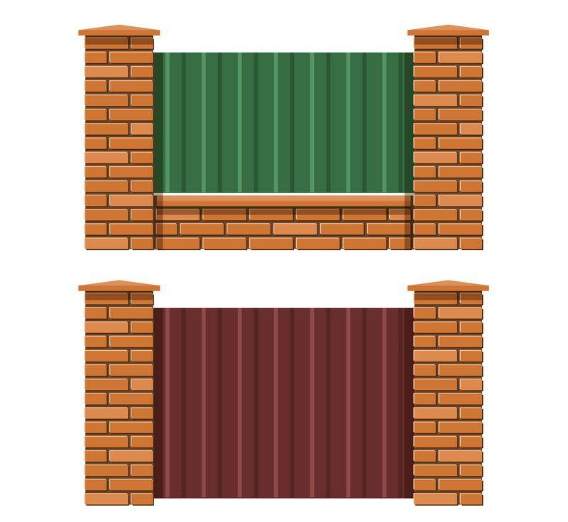 Two ways to install the fence with and without foundation