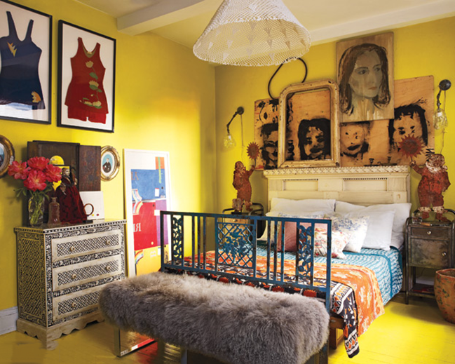 artistic and inexpensive bedroom for teen girl