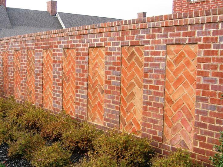 beautiful brick fence