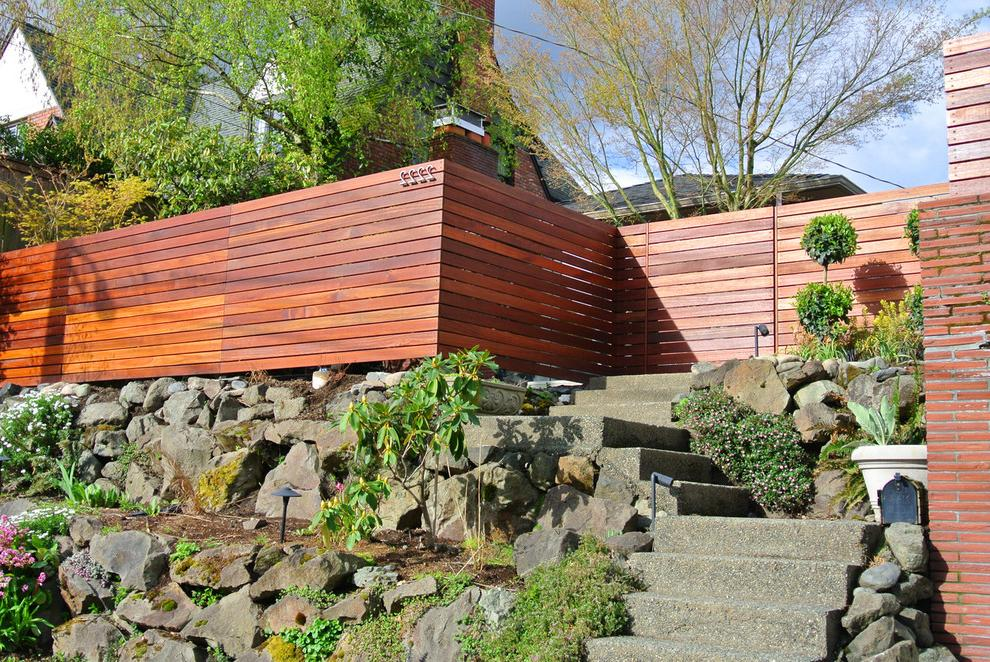 decorated with a beautiful wooden fence