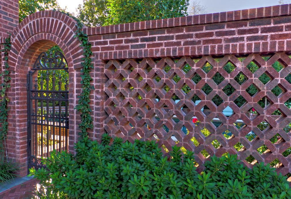 decorative brick fence