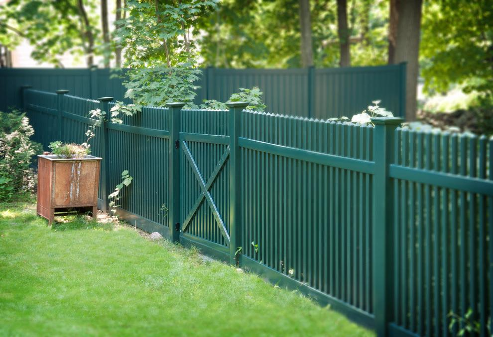 fences painted in green
