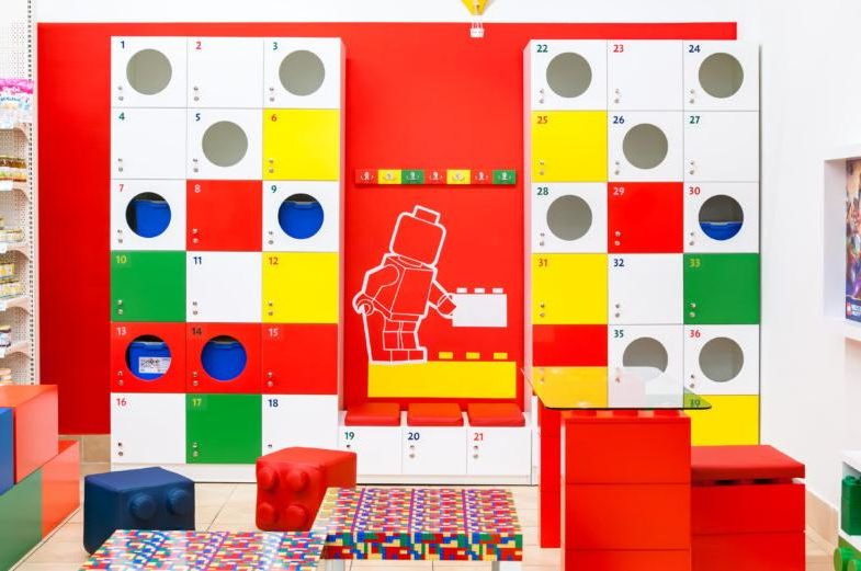 red and yellow lego lounge