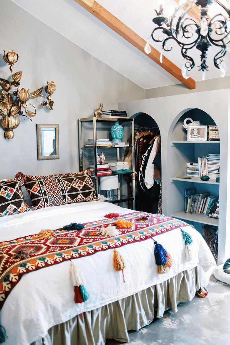 retro bedroom decoration for teen girls