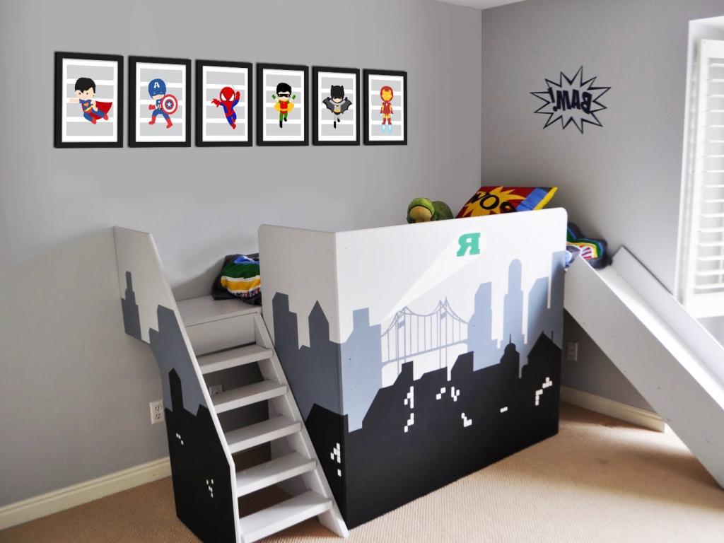 super heroes baby bedroom decoration