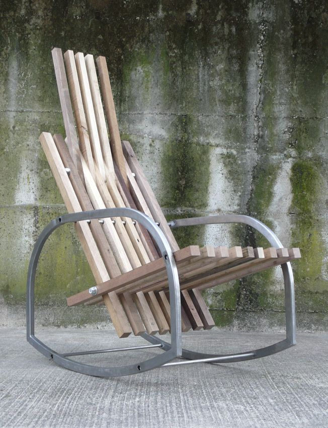 A bit of wood and metal and you are the owner of a good and stable rocking chair