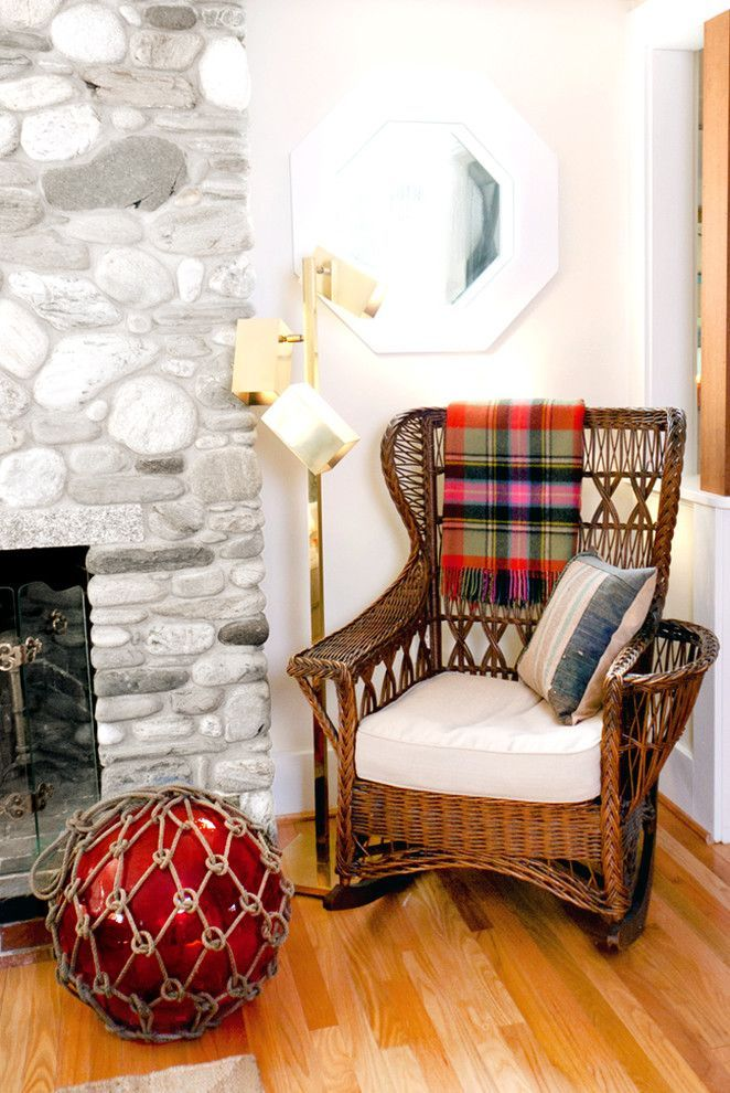 A simple wicker rocking chair will add a lot of comfort to your home