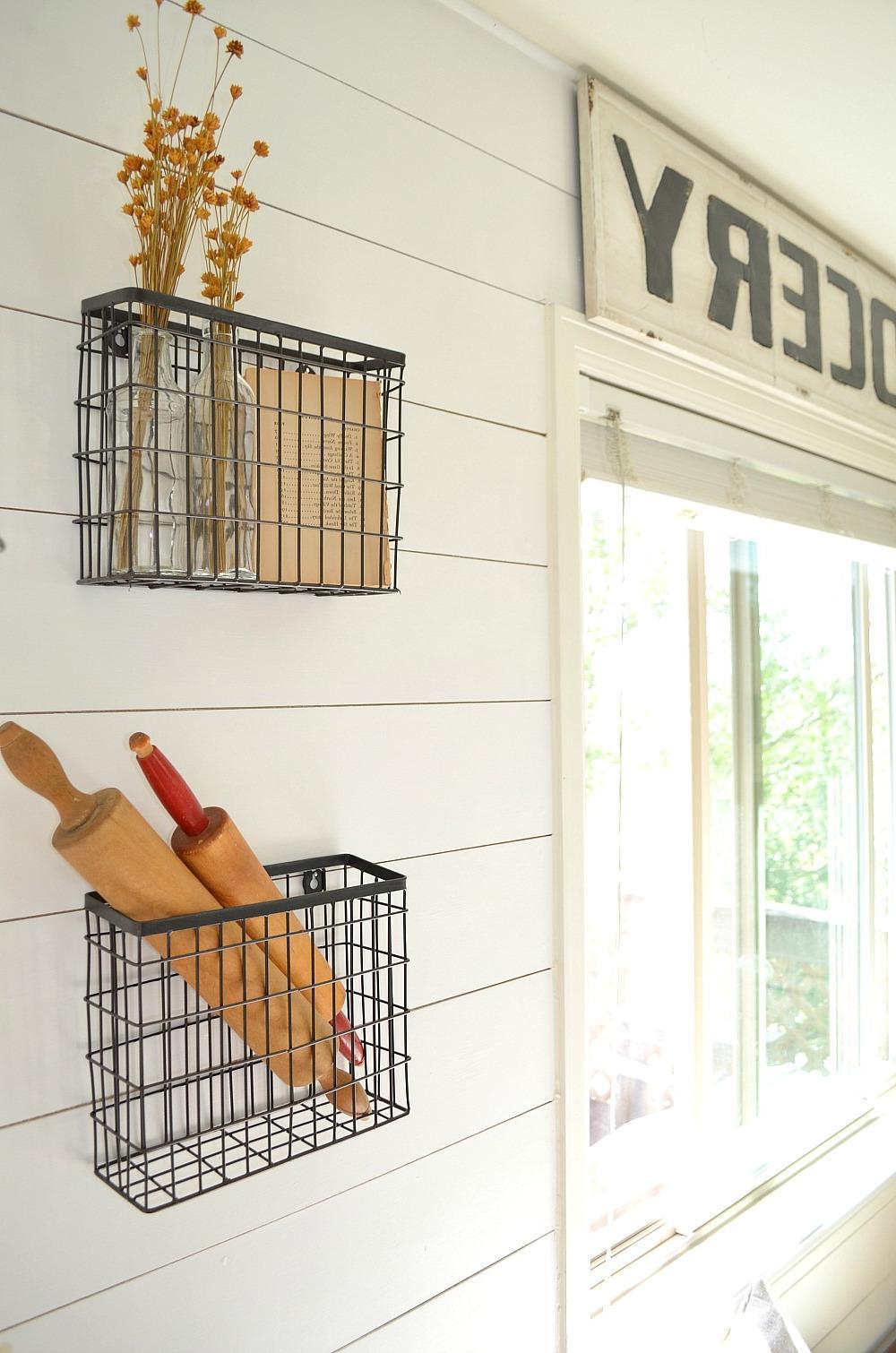 Hanging Baskets for Farmhouse Kitchen Decoration