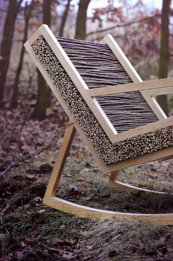 Rocking chair and fresh air - just what you need for a good rest