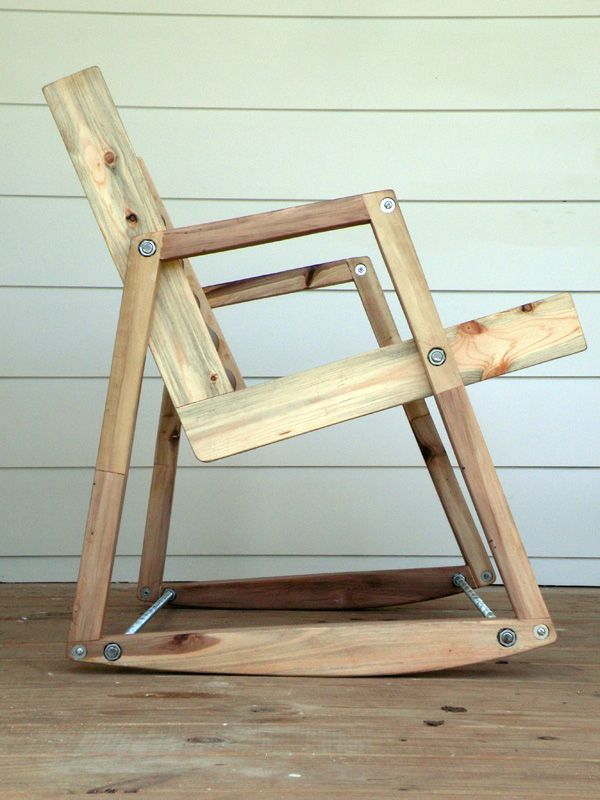 With materials, tools and a few hours, you can become the owner of a solid rocking chair