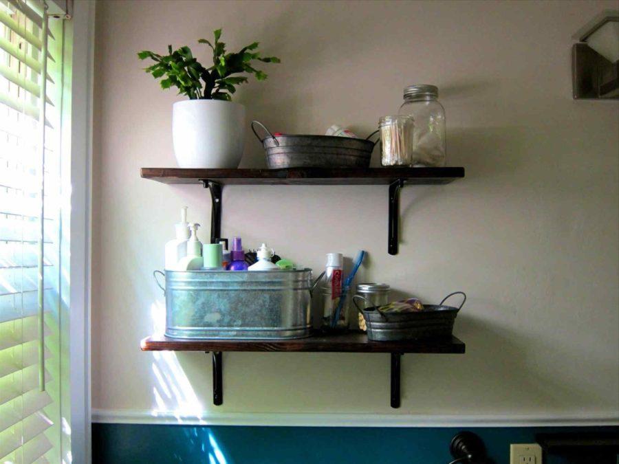 captivating rustic shelf decorating ideas