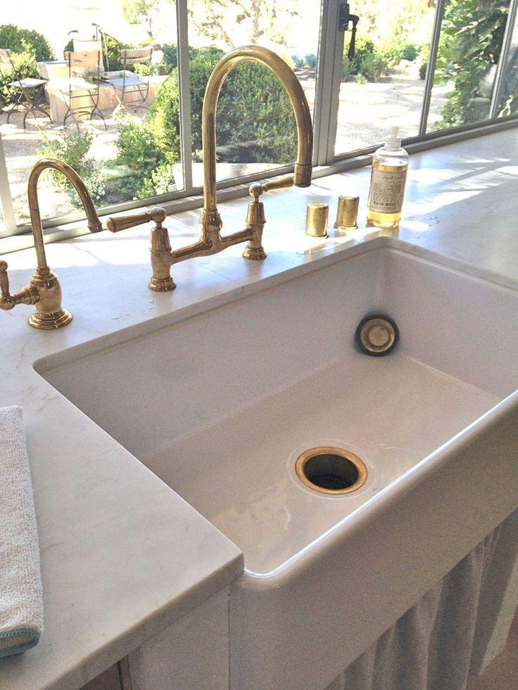 farmhouse style kitchen faucets with brass tap