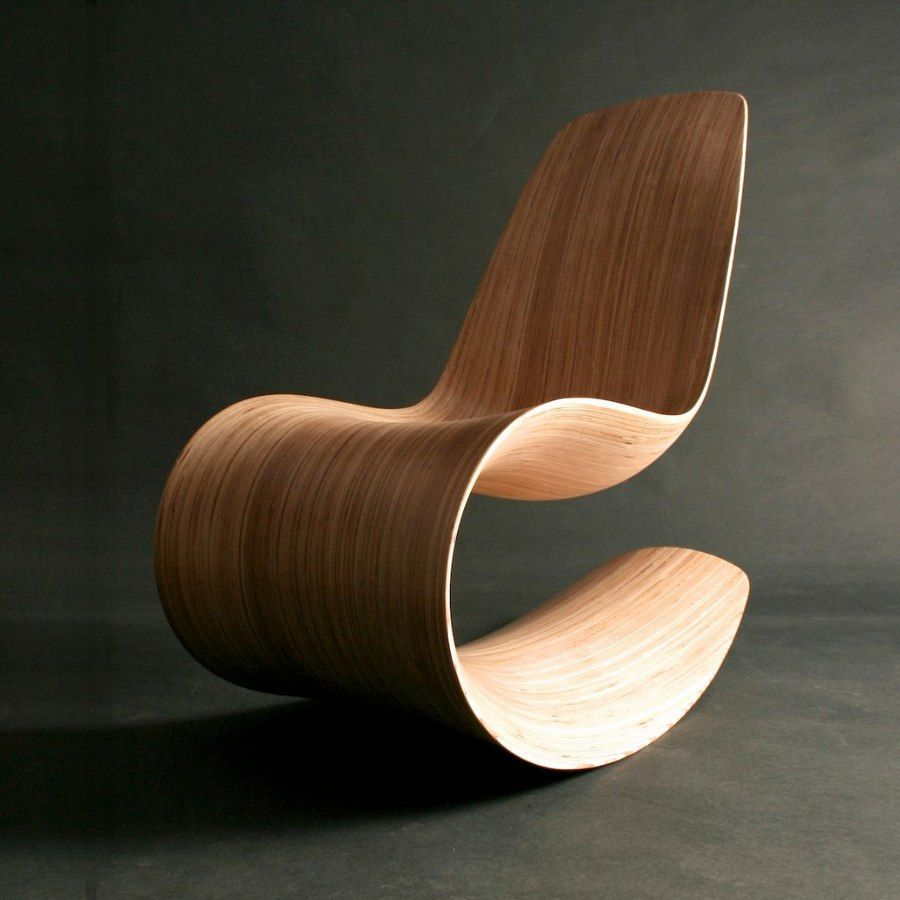 monolithic and flexible lines will make such a rocking chair