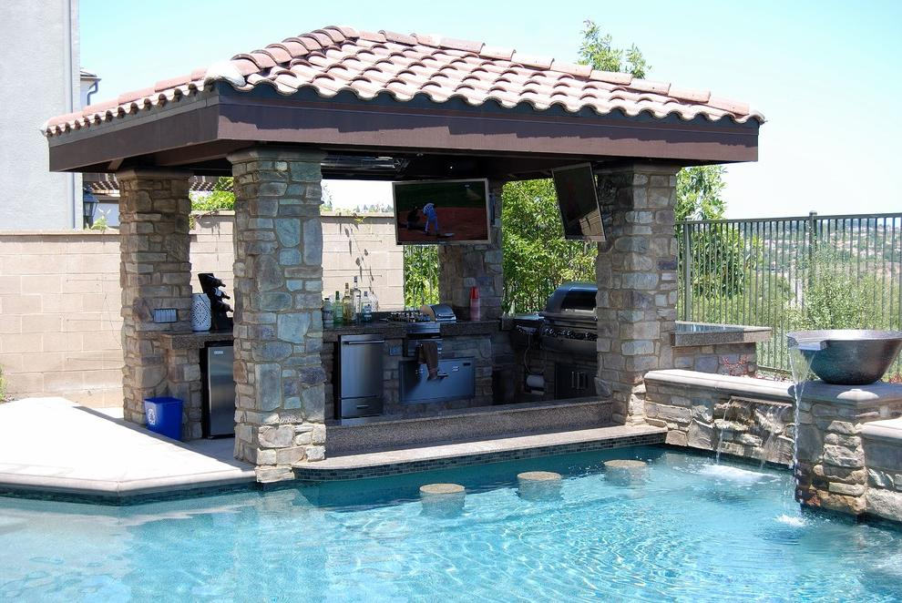 Traditional backyard Pool Designs