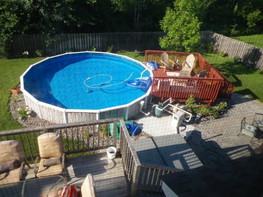 above ground backyard pool designs