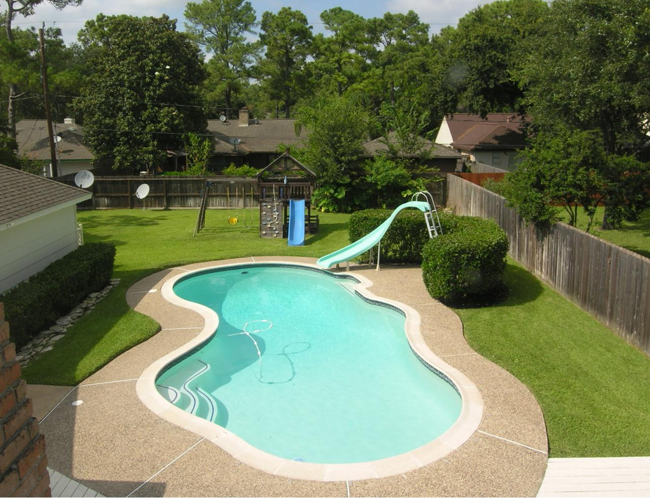 outdoor pool area designs