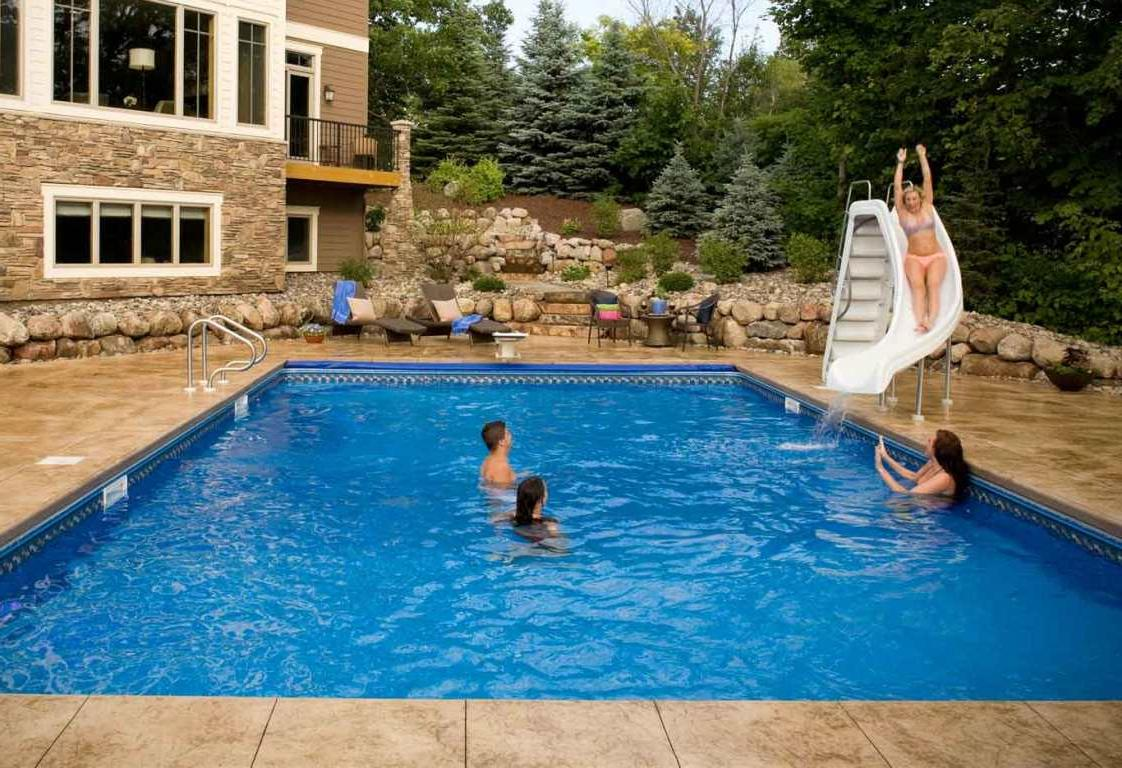 sizable backyard swimming pools