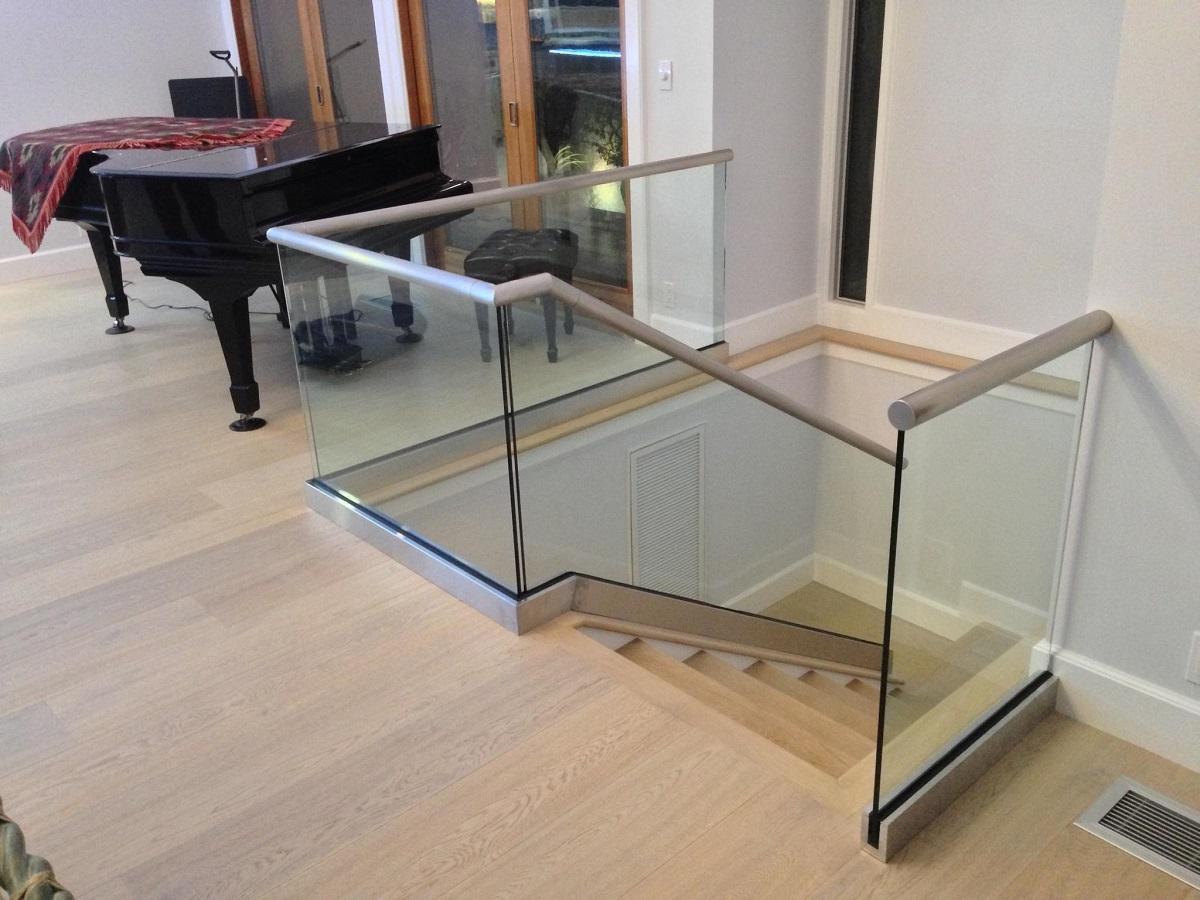 Glass Rail Stairs