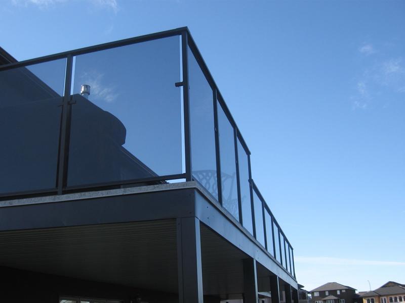 balcony glass railing design
