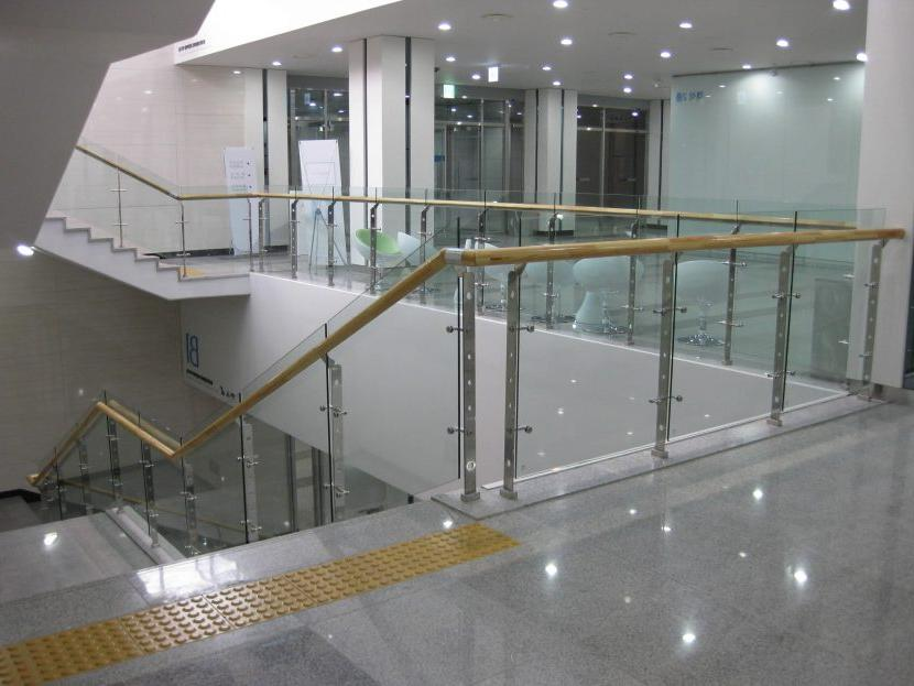 commercial interior glass railings