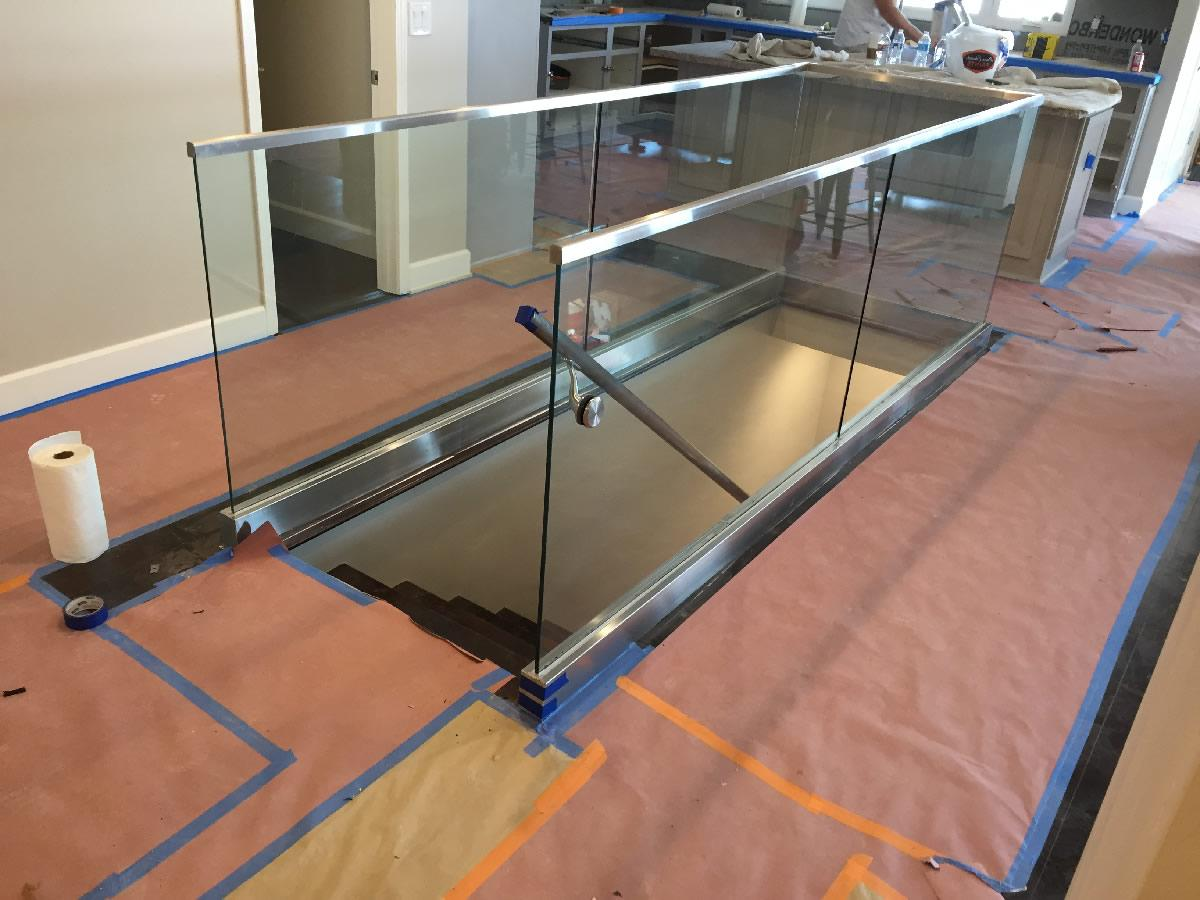 half inch glass railing install point