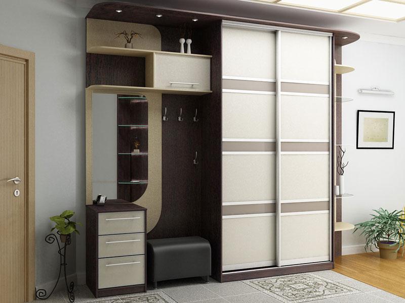 wardrobe boxes in hallway