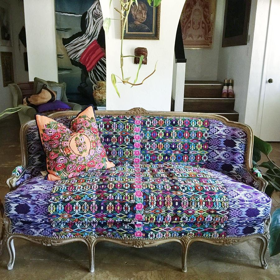 Colorful Old Sofa Decor