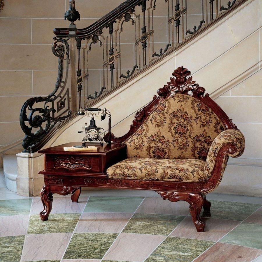 Vintage Dark Wood Victorian Style Furniture