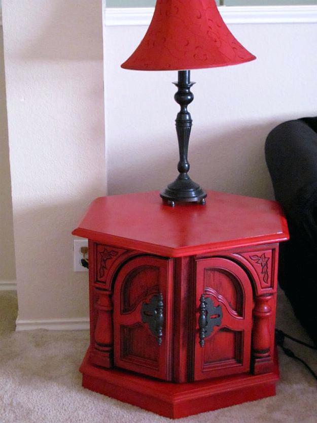 glazed red furniture ideas
